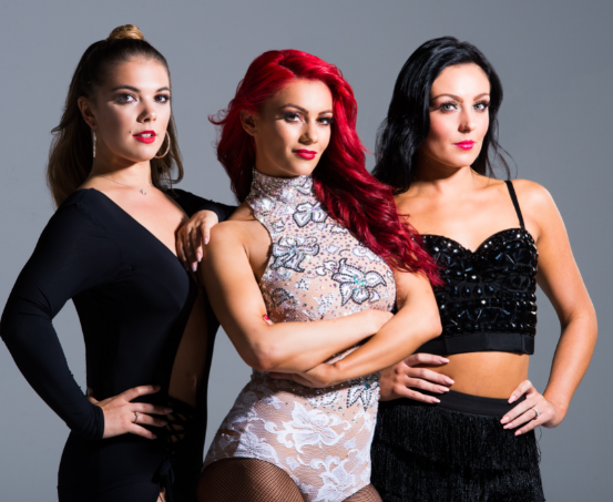 HERE COME THE GIRLS: Chloe Hewitt, Dianne Buswell, Amy Dowden