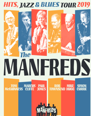 Saturday 18 May at 7.30pmTickets - £25The '60s group Manfred Mann is now considered, more than ever, one of the finest and most respected bands from that era. Their numerous hits were R&B based with an undercurrent of jazz - a very unusual but winning combination of playing style and substance. As a result, their records have a timeless quality and, some 55 years on, The Manfreds, with original front man, Paul Jones, will be performing many of their hits, including 'Do Wah Diddy Diddy', one of the most popular and instantly recognisable songs of the '60's,and still the biggest audience pleaser at their concerts, along with a mix of Jazz and Blues covers and tracks from their individual solo albums.Paul Jones, with his unique harmonica sound, will be joined by Mike Hugg on keyboards, Tom McGuinness on guitar, Rob Townsend on drums, Marcus Cliffe on bass, and Simon Currie on saxophone/ flute.