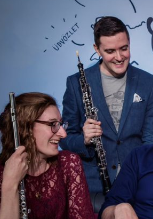 Wednesday 6 March at 2pmTickets - £6Seren Winds is a Cardiff-based wind quintet, formed in January 2015 andcomprised of Masters graduates from the Royal Welsh College of Music and Drama. Katie, Eric, Michael, Bartosz and Laura regularly perform together in Cardiffand around Wales, in various well-known venues, music clubs and recital series. In 2015 they were announced as the winners of the June Emerson Launchpad Prize atthe Royal Welsh College of Music and Drama.  After the success of the quintet's first tour to Quiberon, France, in Summer 2015 tointroduce Pascal Gallois' new music festival, Les Musicales de Quiberon, theywere invited back and returned for ten days in the summer of 2016. They recorded their debut album in the Dora Stoutzker Hall at the Royal Welsh College of Music and Drama in July 2016, featuring music by Farkas, Taffanel, Poulencand Damase.  Seren Winds are also available to play at public and private events, weddings and corporate functions. Alongside performing many of the great staples of the quintet repertoire they are always expanding their popular music repertoire and seeking to play new styles and genres. The ensemble is also committed to music education and have a variety of educational projects available. A firm favourite is a quintet arrangement of Hansel and Gretel, complete with narration and costumes, which they have performed invarious primary schools.  Seren Winds are delighted to have been accepted as 'Live Music Now' artists and are looking forward to taking their music to new audiences.