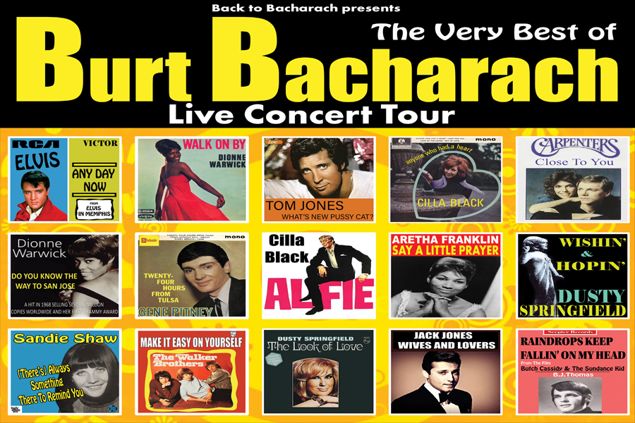 "**Rescheduled date Friday 9 October 2020**Friday 1 May at 7.30pmTickets - £25, concessions - £23Criticallyacclaimed ""Back to Bacharach"" with their West End cast and the amazing musicianship of the Magic Moments Orchestra are proud to present The Very Bestof Burt Bacharach celebrating ""The Hitmaker"" behind one of the greatest American songbooks of the 20th Century. Back to Bacharach bring you The Sensational Soundtrack of the 60's and beyond! Travel back with us and be dazzled by a non-stop parade of classic hits such as Alfie, What The World Needs Now, Do You Know The Way To San Jose, Walk On By, The Look of Love, Anyone Who Had A Heart, Twenty Four Hours From Tulsa, I Say A Little Prayer For You, That's What Friends Are For, Close To You, Wishin' & Hopin', Trains & Boats & Planes, Magic Moments, I'll Never Fall In Love Again, What's New Pussycat?, Raindrops Keep Falling On My Head & Many More, you're never more than one song away from another classic platinum-selling hit in this fantastic night of nostalgia. We are proud to support Breast Cancer Now and £1 of each ticket sold is donated to BCN Book your tickets now for this critically acclaimed live concert."