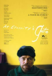 Tuesday 28 May at 7.45pm Wednesday 29 May at 1.30pm & 7.45pmThursday 30 May at 7.45pmRunning time: 111 minutesDirector – Julian SchnabelStarring – Willem Dafoe, Rupert Friend, Oscar Isaac  Earning him an Oscar nomination, Willem Dafoe is mesmerising as Vincent van Gogh in At Eternity's Gate. Covering his time in Arles and Auvers-sur-Oise, we find a complex, troubled soul who is seeking a new visual language, while also struggling to make senseof himself and his connection to those around him, including Paul Gaugain (Oscar Isaac) and a confiding priest (Mads Mikkelsen).Shot with a painter's eye, Julian Schnabel once again shows his talent for working with complex biography and the lives of artists as in The Diving Bell and the Butterfly and Basquiat.