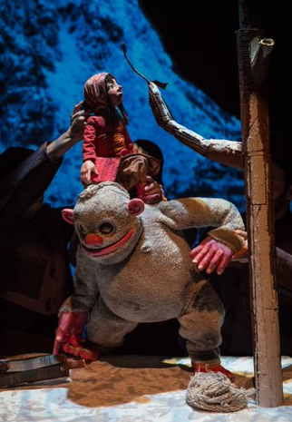 "Thursday 20 February at 11.30am & 2.30pm, ages 5+Tickets - £8 Imagine being far, far from home and all alone, arriving in a remote snow-bound village, surrounded by dense forest and strange noises. This is how Yana's story begins. She can't understand a word anyone says and the other children tease her with tales of mythical mountain monsters. Then things start to get really hairy....   Featuring exquisite music, Arctic landscapes and a cast of extraordinary puppets, Yana and the Yeti is aimed at family audiences (5+). This is a dark, funny and poignant tale of a small child's determination to be understood and her discovery that friends can come in the most unexpected shapes and sizes.  This show was made in Northern Norway, above the Arctic Circle where Yetis still exist.  Praise for Yana and the Yeti: ""Magical, beguiling, emotional and eye-wideningly beautiful"" Bristol 24/7  ""A delightfully designed family show"" ★★★★ The Stage"