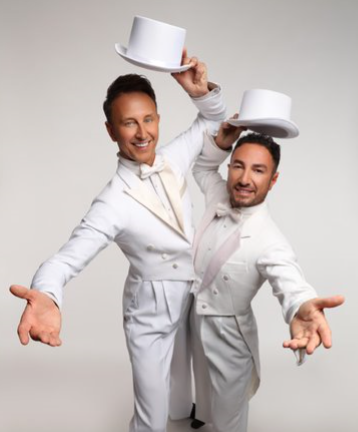 Thursday 18 June at 7.30pmTickets - £33, Meet Ian and Vincent before you enjoy their show for £58 per person. You will need to be at The Riverfront for the meet and greet by 5.45pm. The Ballroom Boys double act Ian Waite and Vincent Simone are set to return in 2020 with a brand new show - Ian Waite and Vincent Simone….ACT TWO, after the roaring success oftheir 5 star rated 2019 tour! The fabulous Strictly Come Dancing stars promise another wonderful evening of old-fashioned variety - dance, comedy and song!  With beautiful costumes, gorgeous lighting and world class routines, including the Viennese Waltz, the Foxtrot, the Rhumba… and of course… there has to be another incredible Argentine Tango routine by the master! The boys will be joined by their stunning dance partners and a world class singer.  If you enjoyed The Ballroom Boys, then make sure you don't miss the hilarious dancing duo when they bring you….ACT TWO!    Reviews from the 2019 production  *****WORLD-CLASS  The News Letter  *****A HUGELY ENTERTAINING NIGHT OUT Crawley Observer ***** WHAT ASHOW! Elementary Whats On   VIP Meet and Greet information - The meet and greet includes meeting Ian and Vincent for photo and autograph opportunities, plus a signed print. The meet and greet is PRE-SHOW, 90 minutes before the show begins. All VIP ticket holders must arrive at least 10 minutes before the meet and greet is due to start. Anyone arriving late may not be permitted.