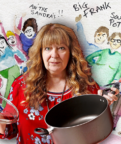 "Friday 14 February at 7.30pmTickets - £17.50NEWS ALERT……Janey Godley and her soup pot are on tour. ""Frank Open the door"" get ready!So, tell all the Sandra's, Big Frank and all the lassies fresh from Zumba to grab the soup pot and get ready for the ""Queen of Scottish Comedy"" coming to a town near you!Live voice over's and stand up like you've never seen before. Check out some hilarious patter from Big Tereeza in Torremolinos, Boris and his bawjaws and see Nicola up on the big screen with all the latest patter. Hot from her recent appearance's on BBC's'Have I Got News for You' and BBC Scotland's 'Breaking the News, Fringe Festival sell out and with over 20 years of performing award winning comedy around the world from Newcastle to New Zealand. Janey is excited to bring  you her hilarious new show for 2020With over 40 million hits online andregular sold out shows at Edinburgh and Glasgow Comedy Festivals, book early to avoid disappointment.Come see the woman who Billy Connolly called ""A F***ing great comedian""Running time - 2 hours approximately, no support"