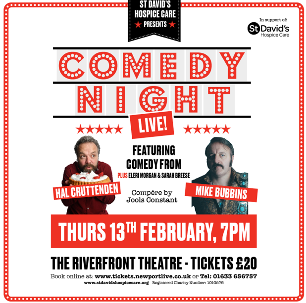 ST DAVID'S HOSPICE CARE CHARITY COMEDY NIGHT