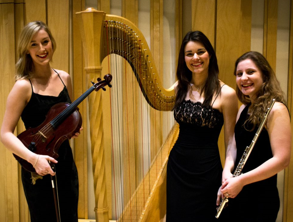 Wednesday 1 July at 2pmTickets - £5Vesta TrioThe Vesta Trio was formed in 2013 at the RWCMD by Alex Griffiths (flute), Lowri Thomas (viola) and Megan Morris (harp), and are the winners of the Cardiff Violin Prize (2015). The trio have performed recitals at the prestigious Dora Stoutzker Hall, the National Museum of Wales and for events such as The Festival of Flowers and Barry Arts Festival.CONCERTS & CONNECTIONS brings people together to share high-quality live music experiences. These events are dementia-friendly and we encourage audiences of all ages to come along, enjoy the music and socialise in a relaxed environment.